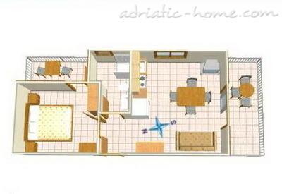 Apartmaji DAVOR TOMAŠ 3 & 7 8336, Brela, , Regija Split-Dalmacija