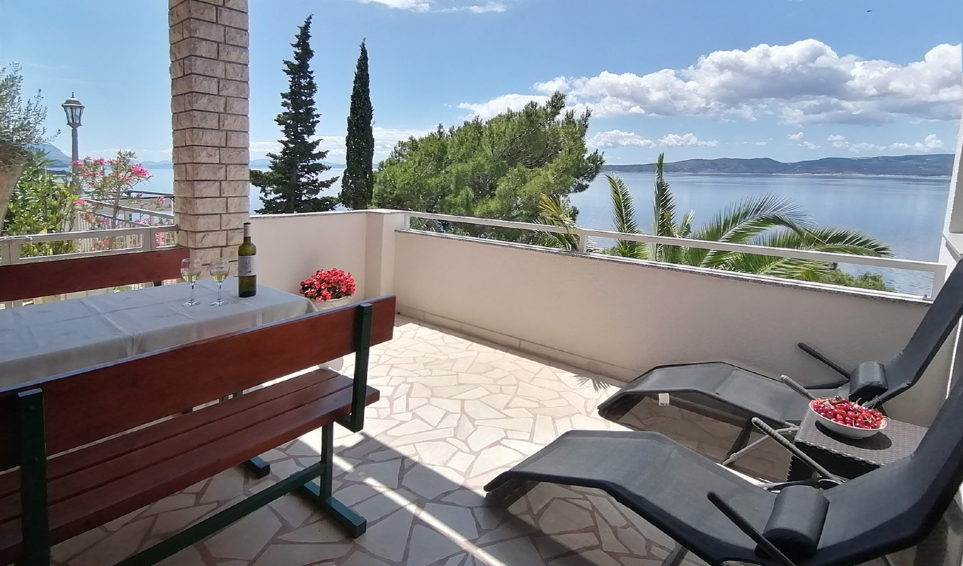 Studio apartment Brela Villa Skalinada II - Studio apartment with beautiful Seaview 7985, Brela, , Region Split-Dalmatia